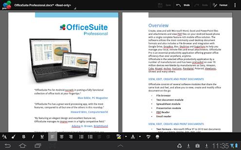 OfficeSuite Pro 7 (PDF & HD) - screenshot thumbnail