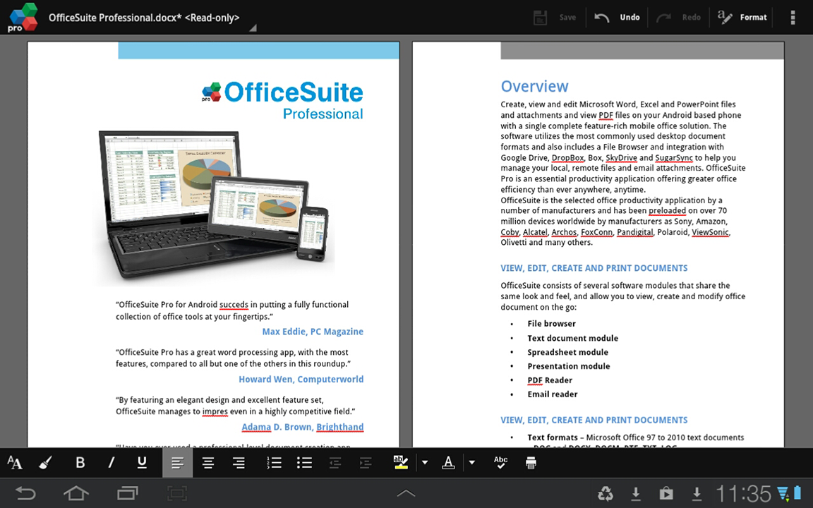 OfficeSuite Pro 7 (PDF& Fonts) - screenshot