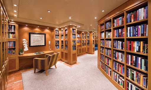 Regent-Seven-Seas-Voyager-Library - Sit back with a novel in the peace and quiet of Seven Seas Voyager's well-stocked Library.