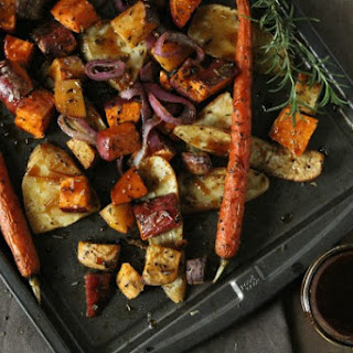 Maple Balsamic Roasted Vegetables