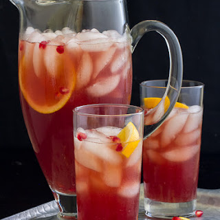Spiced Pomegranate Pitcher Cocktails