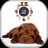 Shar Pei Puppy Clock