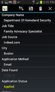 Job Application Db - screenshot thumbnail