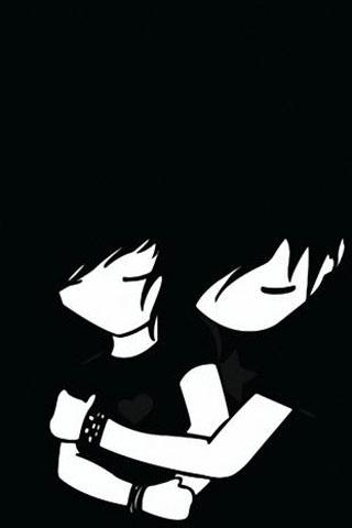 emo love background goth - screenshot