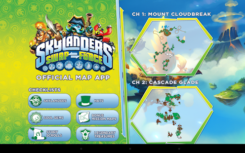 Skylanders SWAP Force Map App