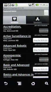 AUA 2011 Courses - screenshot thumbnail