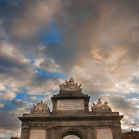 Puerta de Toledo, Madrid by Christian Diboky - Buildings & Architecture Statues & Monuments ( españa, toledo, arch, madrid, puerta, puerta de toledo, evening, spain,  )