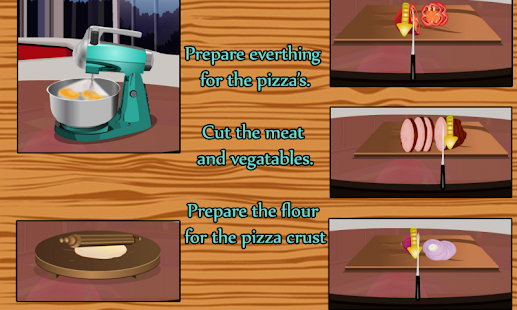 pizza app game how to make vegetarian