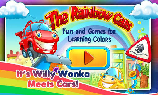 Rainbow Cars Kids Colors Game