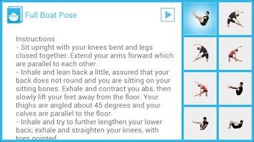 Screenshot of Seated Yoga Routine