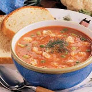 Cauliflower Tomato Soup.