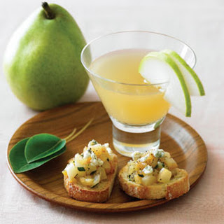 Caramelized Pear and Sage Crostini