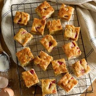 Strawberry and Macadamia Blondies Recipe