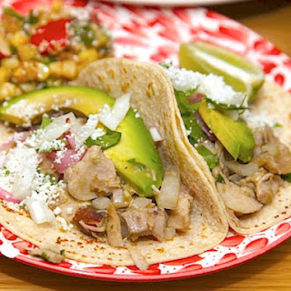 Chicken Green Chile Tacos