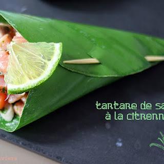 Salmon Tartare with Lemongrass.