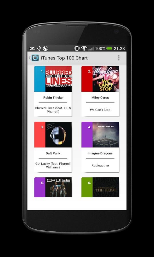 Chartix: Android Music Charts - screenshot