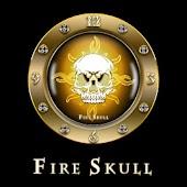 FIRE SKULL Clock Widget