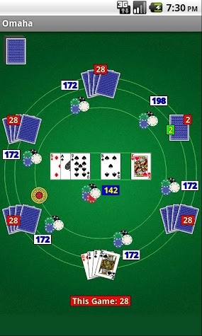 Omaha Poker Screenshot