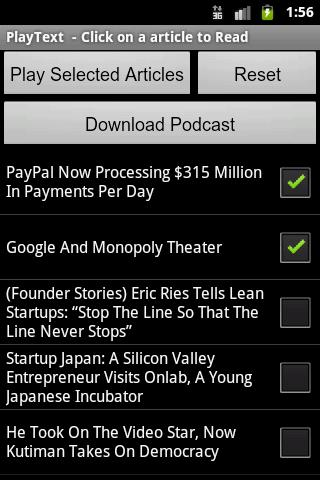 PlayText - Podcaster - screenshot