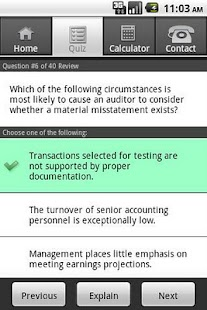 Gleim CPA Diagnostic Quiz - screenshot thumbnail
