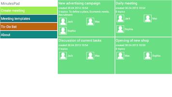 Screenshot of MinutesPad