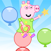 Rosie The Pig - Balloon Bounce