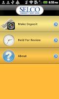 Screenshot of SELCO Mobile Banking App