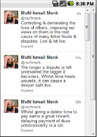 Thoughts of Mufti Menk