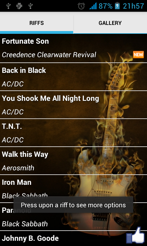 Greatest Rock Riffs - screenshot