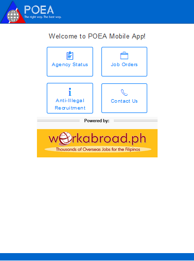poea mobile android apps on google play