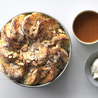 Almond Bread Pudding with Salted Caramel Sauce