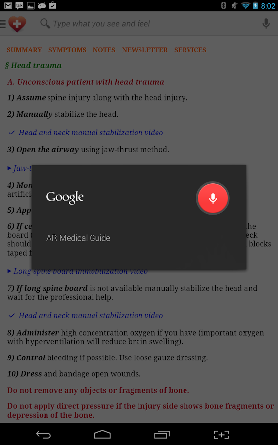 First Aid Emergency & Home - screenshot