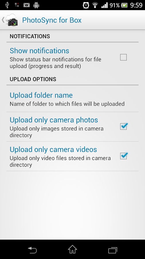 Photo Sync for Box (Uploader) - screenshot