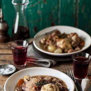Red Wine Chicken Casserole With Herby Dumplings