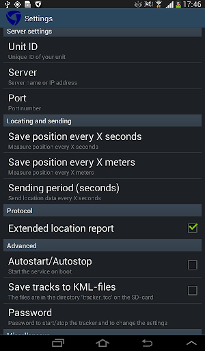 Tracker for Traccar