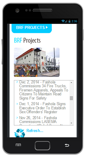 BRF Mobile- screenshot