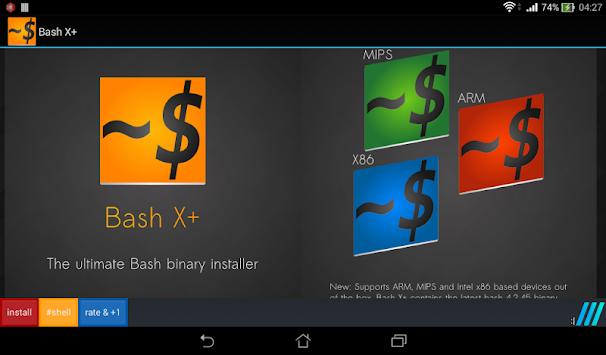 bash shell x pro root 50 apk version app