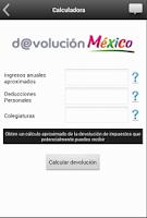 Screenshot of Devolución México