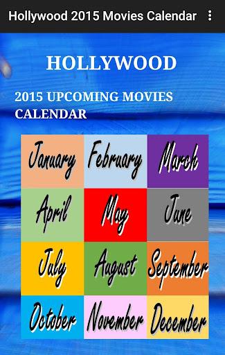 Hollywood Calendar 2015