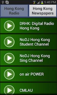Hong Kong Radio and Newspaper