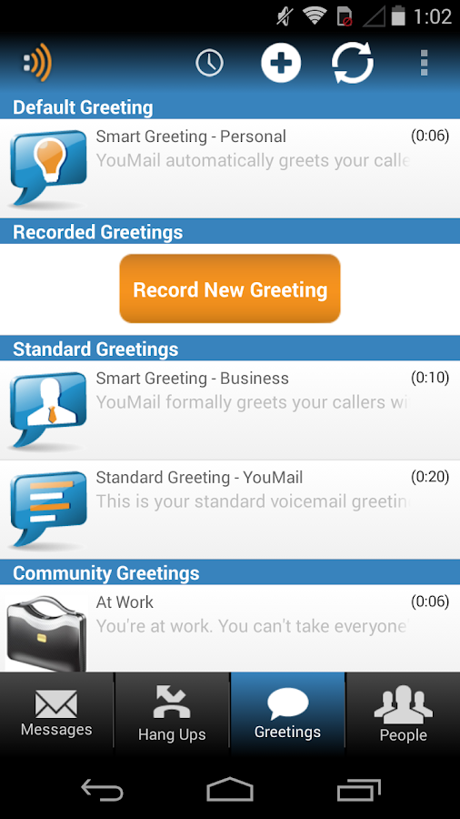 how to delete your voicemail greeting on android