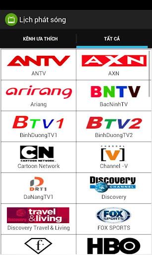 Lịch phát sóng TV