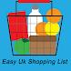 Easy UK Shopping List