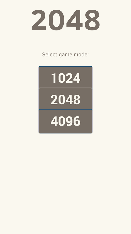 2048! - screenshot