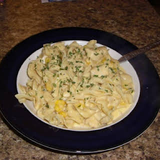 Cheesy Chicken Noodle Casserole.