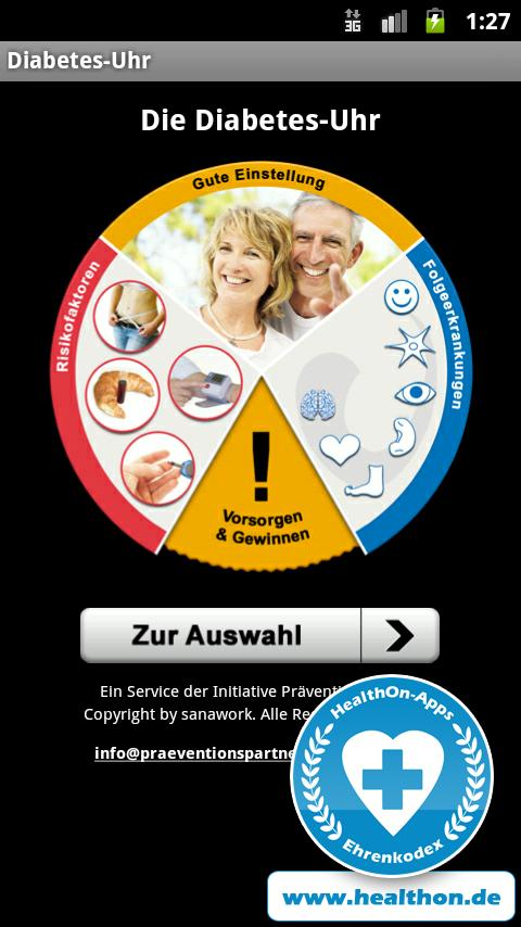 Diabetes-Uhr- screenshot