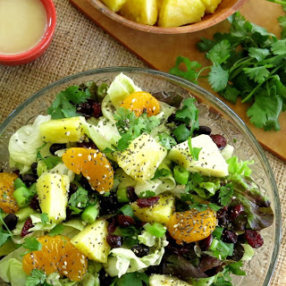 Caribbean Salad with Honey Lime Dressing.