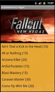 Fallout New Vegas Achievements - screenshot thumbnail