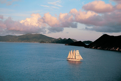 Star-Clippers-sailing - The twin clipper ships Star Flyer and Star Clipper offer Caribbean and Mediterranean sailings for up to 170 passengers.
