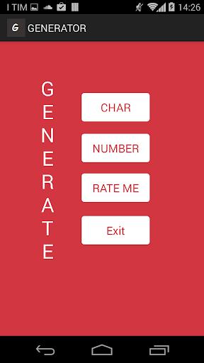 Generator char number